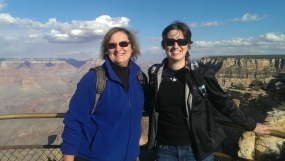 Carol Cram and Julia Simpson at the Grand Canyon
