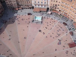 View of the Campo from the top of the Torre del Mangia