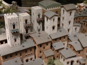 Scale model of the town of San Gimignano as it appeared in the year 1300