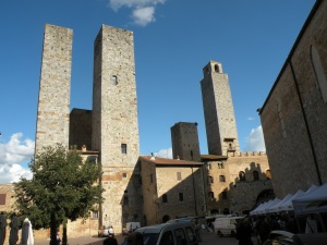 Towers in the Tuscan town of San Gimignano