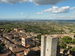 View from the top of the Torre Grossa in San Gimignano