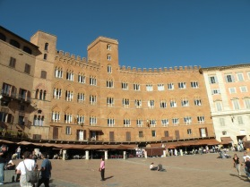 Buildings on the Campo in Siena