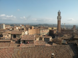 Rooftops of Siena featuring the Torre Grosso
