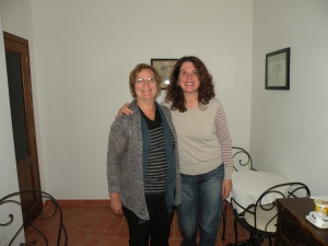 Author with the owner of Palazzo Masi in Siena