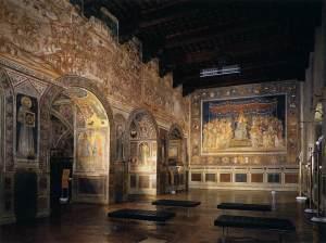 Martini Fresco of the Maesta in the Sala del Mappamondo