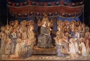 The Maestà by Simone Martini in the Sala del Mappamondo, Palazzo Pubblico, Siena