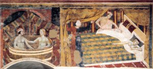 Lippi frescoes in the Museo Civico, San Gimignano