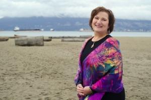 Carol on Locarno Beach in Vancouver