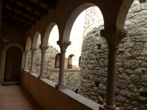 Interior archway in the castle. Eleventh century tower to the right.