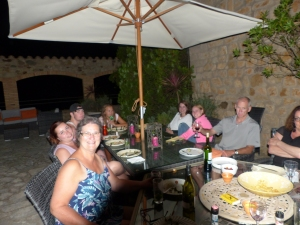 At dinner at the Castel d'Escales