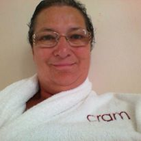 Wearing my Cram dressing gown at the Cram Hotel in Barcelona