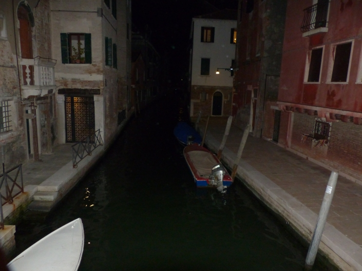 A Venice canal by moonlight