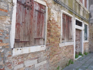 Crumbing walls and doors in Venice