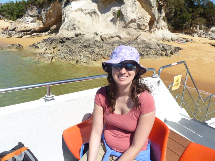 Julia on the boat