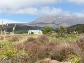 First sight of Chateau Tongariro